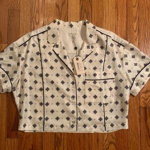 Rag & bone boxy printed blouse - NWT